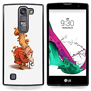 - Mushroom Gnome Dwarf Forest Fairy Nature - - Snap-On Rugged Hard Cover Case Funny HouseFOR LG Volt 2 / LG G4 Mini (G4c)