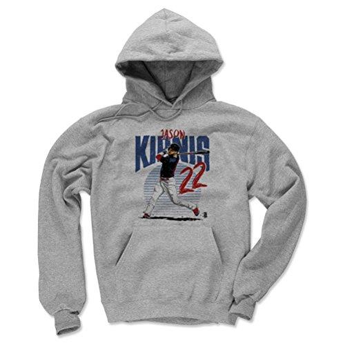 500 LEVEL Cleveland Baseball Men's Hoodie - X-Large Gray - Jason Kipnis Rise R