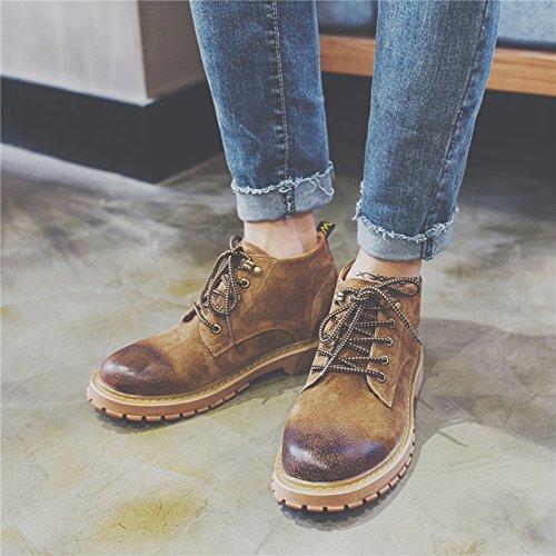 HL-PYL-Tooling Stiefel Stiefel Stiefel Stiefel Schuhe Retro koreanischen Martin Stiefel hohe Stiefel 40 Braun 4ce788