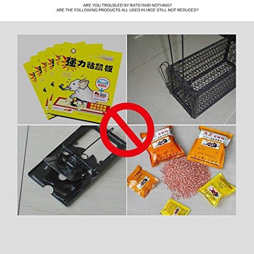 LOERO Repelente de ratones ultrasónico 8 frecuencias Repelente de plagas Control electrónico de plagas para cucarachas, insectos, hormigas, arañas, pulgas, ...