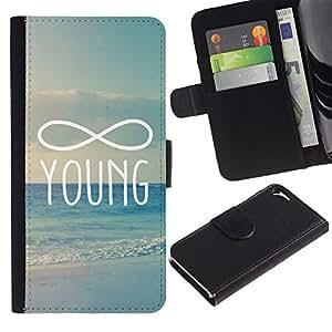 A-type (Infinity Mathematics Young Forever) Colorida Impresión Funda Cuero Monedero Caja Bolsa Cubierta Caja Piel Card Slots Para Apple Iphone 5 / 5S