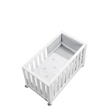 Cotinfant - Cuna Colecho Look At Me Nuit con Colchón y Textil (120 x 60 cm.) blanco/gris: Amazon.es: Bebé