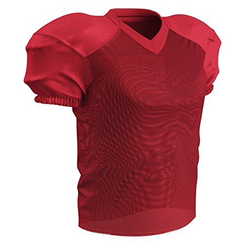 Jersey Practice Football - CHAMPRO Adult Stretch Polyester Practice Football Jersey, Scarlet, Medium