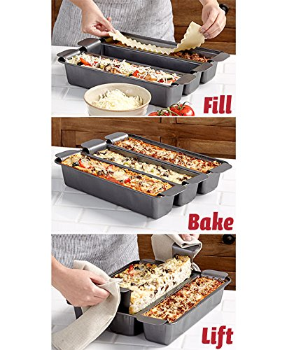 3 Section Trisagna Pan Baking Dish Cooking Bakeware by KNL Store