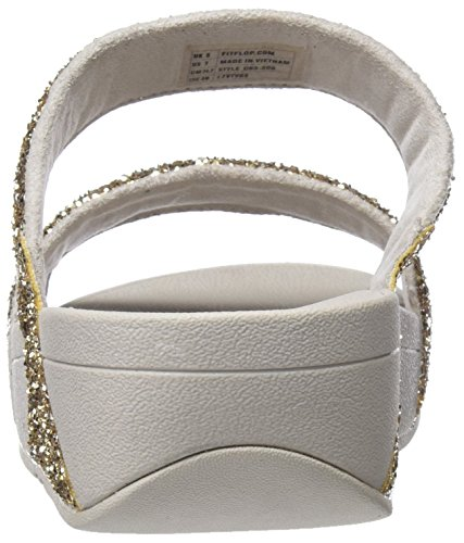 308 Pâle Femmes L'or forme Plate or Sandales Slide Fitflop Glitterball wxaCAqzF