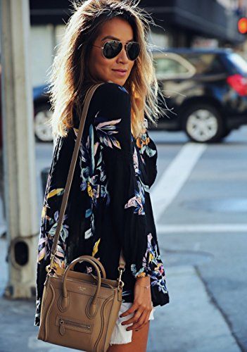 MIXMAX-Women-Casual-Long-sleeve-Floral-Print-Chiffon-Blouse-Shirts-Tops