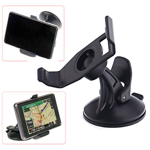HDE Garmin Nuvi 200 Series GPS Windshield Ball & Socket Suction Cup Mount & Bracket Unit Holster Bundle