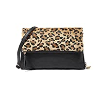 Koson-Man Women's Sexy Leopard Print Handbag Envelope Style Square Clutch Sling Handbags Fashion Design Animal for Ladies