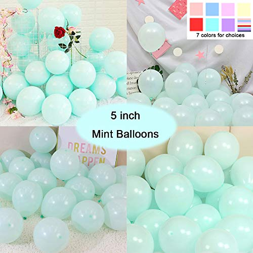 - Party Pastel Balloons 200 pcs 5 inch Macaron Candy Colored Latex Balloons for Birthday Wedding Engagement Anniversary Christmas Festival Picnic or Any Friends & Family Party Decorations-Mint Balloons