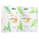 Heivy Collagen Boosting New Oolong Tea Mask, Long-lasting Hydration Face Mask, Collagen Sheet Mask That Boost Your Skin Elasticity (10 Sheets)