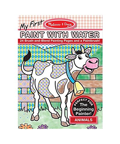 Melissa & Doug My First Paint With Water Coloring Book: Animals (24 Painting Pages) -