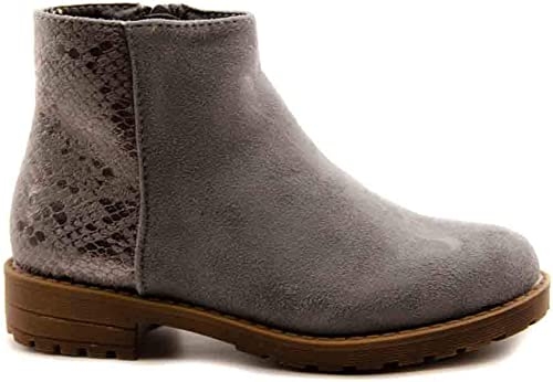 Girls' Boots – Girls Grey Size: 1.5 UK