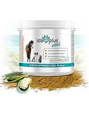 Ida Plus - 100% Grünlippmuschel-Pulver - Ohne Zusätze - Für Gelenke bei Hunden, Katzen und Pferden - Versorgung des Bewegungsapparates mit Glykosamin-oglykanen, Omega 3, Calcium, Magnesium
