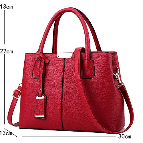 Rouge JUND Femme Rouge Main Sac à Rouge pour wX84Pq