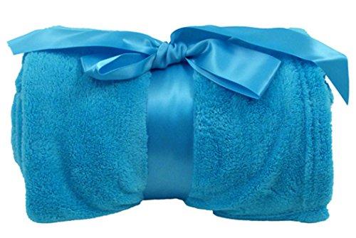 Elegant Cozy Blanket Warm Plush Throw Blanket w/ Bow 42