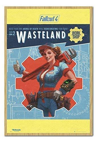 Fallout 4 Yermo Trabajo Shop Póster Corcho Pin Tablero Haya ...