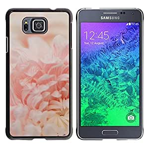For Samsung GALAXY ALPHA G850 Case , Blossom Pink Close-Up Flower - Diseño Patrón Teléfono Caso Cubierta Case Bumper Duro Protección Case Cover Funda