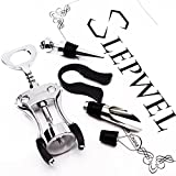 slepwel Wine Opener Set Stainless Steel Wine Bottle