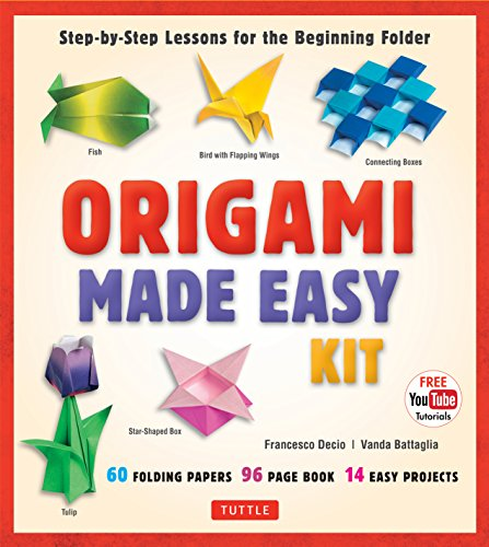 Origami Made Easy Kit: Step-By-Step Lessons for the Beginning Folder: Kit with Origami Book, 14 Projects, 60 Origami Papers, & Video Tutorial por Vanda Battaglia,Francesco Decio