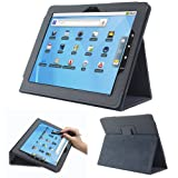 Fosmon Leather Folio Case with Stand Compatible with Le Pan I & II, Le pan S 9.7-Inch Tablets (Black)
