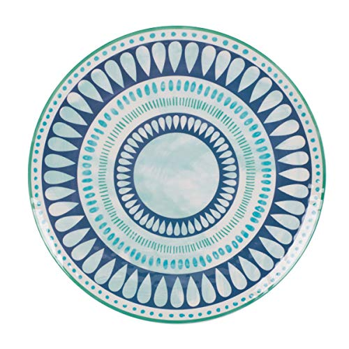 (Fitz and Floyd 5247267 Tranquility Melamine Round Platter, 15-inch, Assorted)