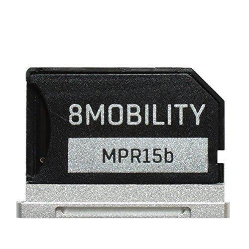 8mobilità Islice aluminum MicroSD con adattatore per MacBook Pro Retina 38,1cm (late 2013, Mid 2014) silver 1cm (late 2013 8Mobility EAD-504ASV