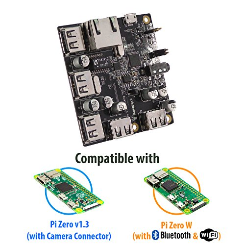 Price comparison product image MakerSpot 5-Port Stackable USB Docking Hub for Raspberry Pi Zero V1.3 (with Camera Connector) and Pi Zero W (with Bluetooth & WiFi)