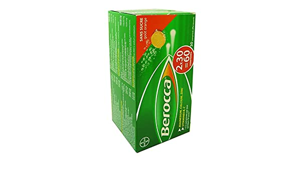 Amazon.com: Berocca Effervescent Tablets, Orange, 30 X 2 Count (60 Tablets): Health & Personal Care