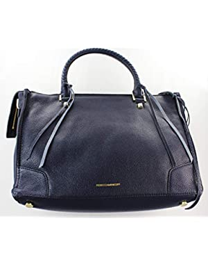 Regan Leather Satchel Bag Moon Navy With Dust Bag HP36IPBS31