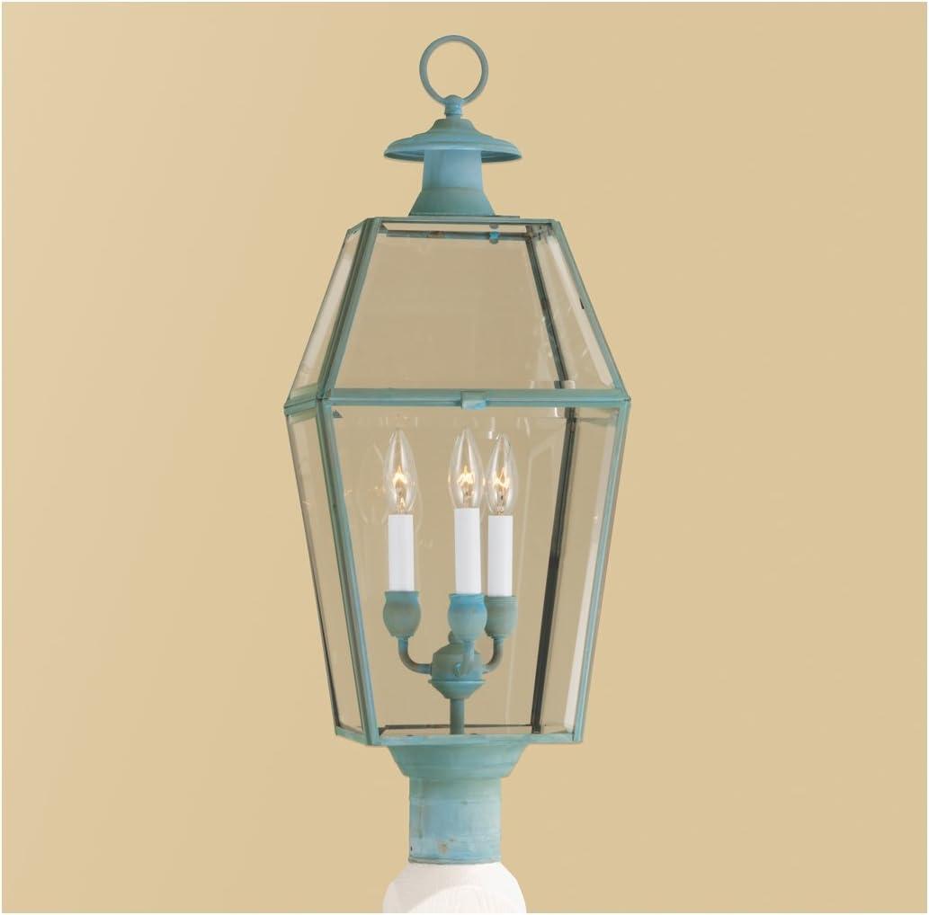 Norwell Lighting 1068-VE-BE Olde Colony - Three Light Post, Finish: VE: Verde