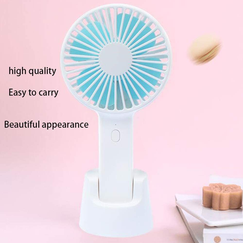 LSSB Portable Desk Fan with 1500 MA Battery Enhanced Wind Mute Office 3-Speed Personal Hand-held Fan Travel Battery-Powered Or USB-Powered Fast Charging Mini-Size Home Suitable for Outdoor