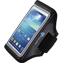 Samsung Galaxy S4 Armband : Stalion Sports Running & Exercise Gym Sportband (Jet Black) Water Resistant + Sweat Proof + Key Holder