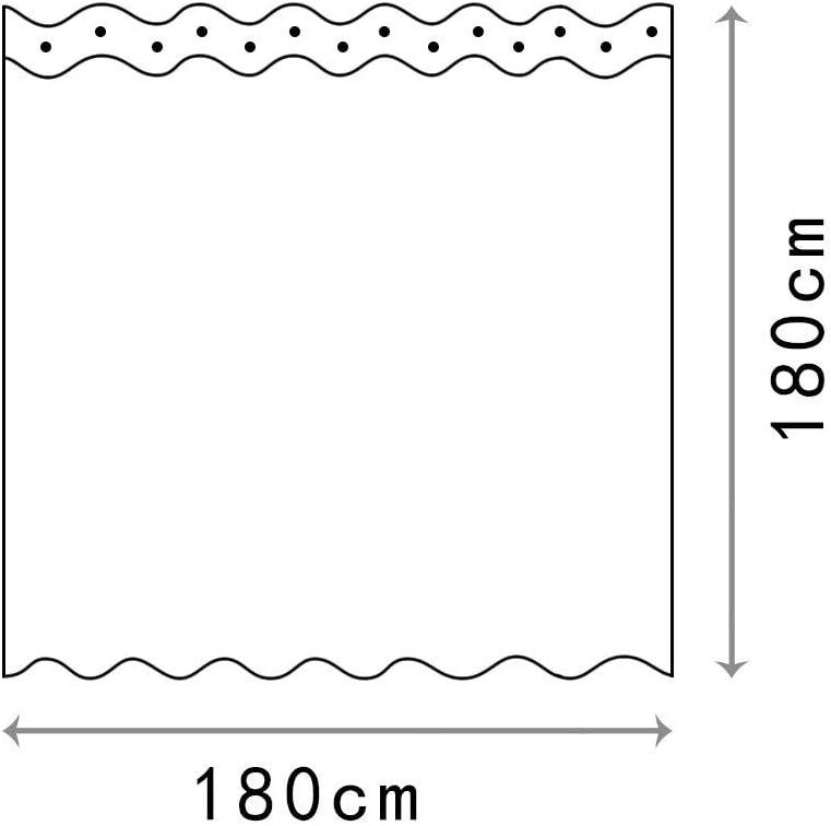Stile-8 Cortina de ba/ño de Tela Impermeable Resistente al Moho Cortina De Ducha Tela De Poli/éster Impermeable Cortina De Ba/ño De Impresi/ón Digital 180 x 180cm