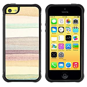 SHIMIN CAO@ Lines Watercolor Painting Pastel Paper Rugged Hybrid Armor Slim Protection Case Cover Shell For iphone 5C CASE Cover ,iphone 5C case,iphone5C cover ,Cases for iphone 5C