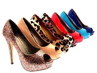 Womens Stiletto High Heels Peeptoe Court Shoes Platforms Party Evening Size Neon Pink 82zJ3LQ