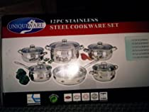 12 PC STAINLESS STEEL COOKWARE SET