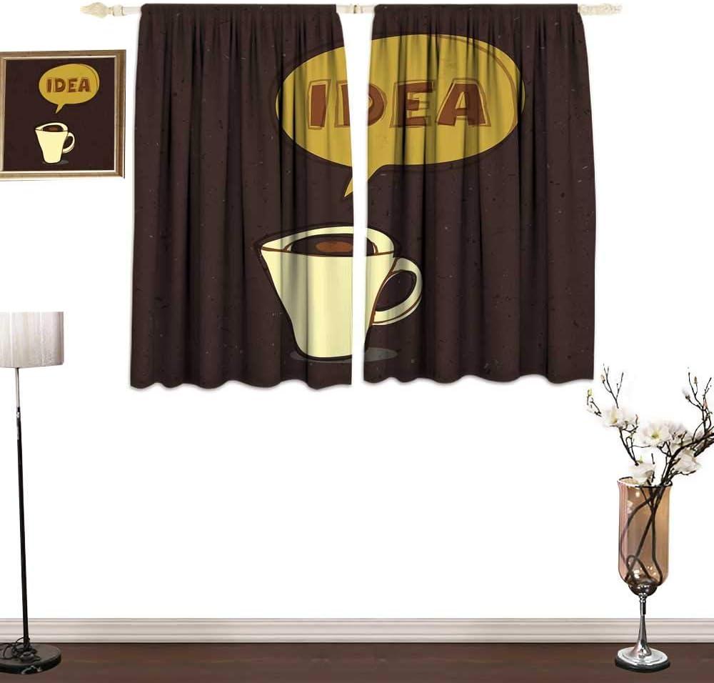 Cortinas Personalizadas para niños con diseño de cafetería con Texto en inglés Hot Mocha Latte Milk Love en telón de Fondo de Estribo Cortinas Decorativas para Sala de Estar: Amazon.es: Hogar