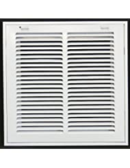"10"" X 10 Steel Return Air Filter Grille for 1"" Filter - Removable Face/Door - HVAC DUCT COVER - Flat Stamped Face - White"