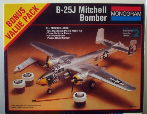 B-25j Mitchell Wwii Bomber By Monogram Scale - Wwii Mitchell Bomber