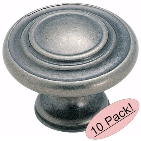 Amerock BP1586-WN Inspirations 3-Ring Weathered Nickel Cabinet Hardware Knob - 1-3/8