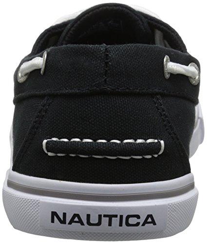 Nautica Mens Galley Boat Shoe Tela Nera