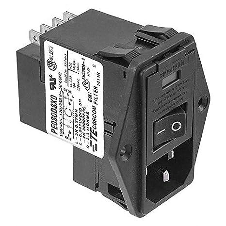 5-6609929-2 PWR ENT MOD RCPT IEC320-C14 PNL Pack of 2