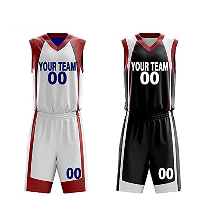 2799a86e68b4d Custom Reversible Basketball Jerseys Set Sportswear Custom Your Number Your  Name Two Side Uniform