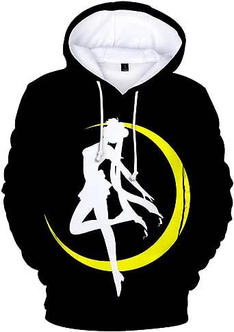 Duess Sailor Moon Hoodie Anime Costume Cosplay Sweatshirt Sweater Cartoon Hooded Pullover Outwear