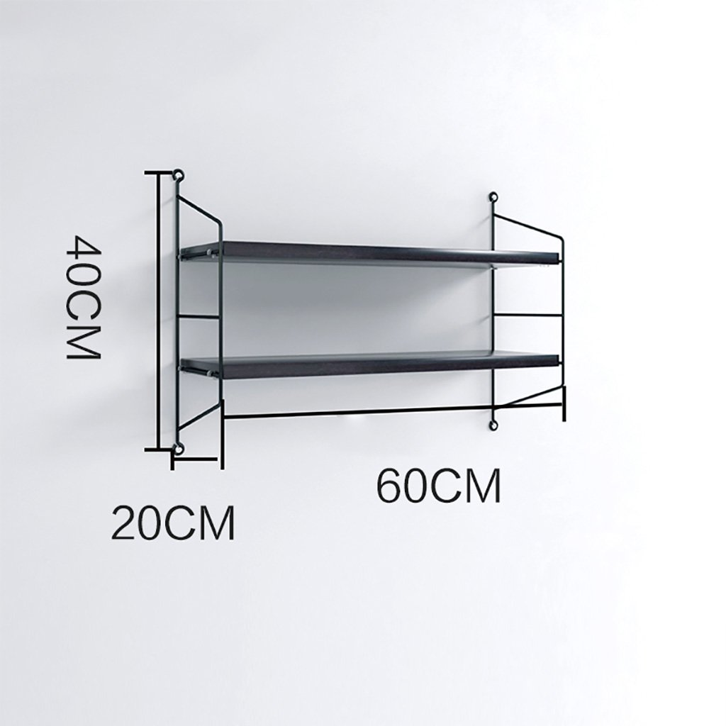 2階フローティングウォールマウントシェルフブックシェルフ小物吊り棚ベッド、リビングルーム、キッチン、オフィスなどの収納、ディスプレイ、インテリア 装飾フレーム (Size : 60*20*40cm) B07TF17B6L  60*20*40cm