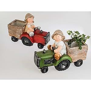 Formano Niño sobre Tractor, 47cm, color verde