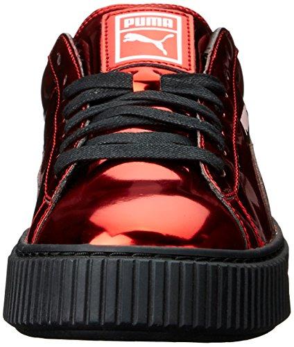 Sneaker di moda metallizzata con plateau per cesto da donna, formula ad alto rischio rosso / alta, 10 M US