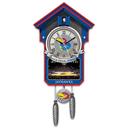 University of Kansas Jayhawks Basketball Cuckoo Clock by The Bradford Exchange