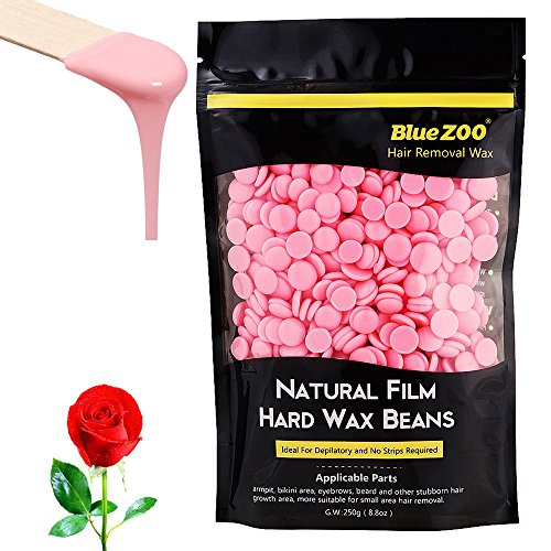 Hair Removal Hard Wax Beans Brazilian Depilatory Waxing Hot Film Pebbles for Bikini Body Man and Woman 250g Rose