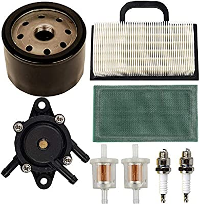 replacement air pre filter oil filter fuel filter 808656 fuel pump  spark plug for briggs stratton 691007 intek v-twin 18-26 hp engines lawn  mower parts